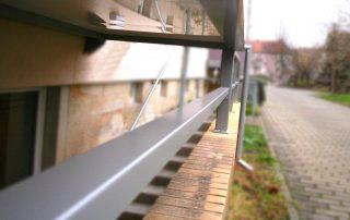 Balkon pulverbeschichtet